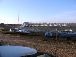 Looking across to the boats in Andy Horton's Marina
