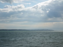 Lee on the Solent looking across to Cowes Isle of Wight