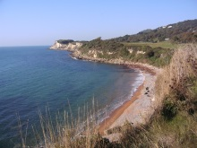 Secluded Bay on the Isle of Wight featured in DI Andy Horton - A Killing Coast
