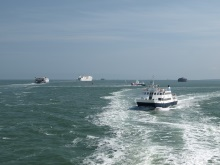 Sailing in the Solent off Portsmouth