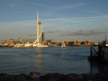 Andy Horton sailing into Portsmouth