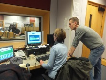 Pauline Rowson taking the personality test on BBC Radio Solent Julian Clegg show March 2015