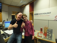 December 2016 Julian Clegg and Pauline Rowson BBC Radio Solent Dec 2016