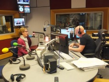 October 2017 Pauline Rowson talking on air to Julian Clegg, BBC Radio Solent