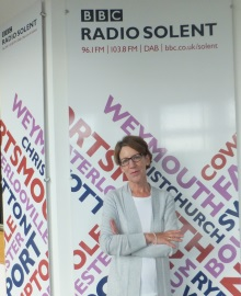 Crime author Pauline Rowson at the BBC South Studios