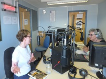 Pauline Rowson talking to Chrissie Pollard on Awaaz Radio
