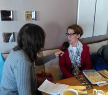 Pauline Rowson being interviewed for Express FM and About Your Area Portsmouth