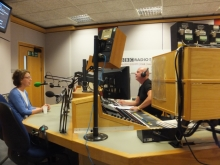 Pauline Rowson on air with Julian Clegg BBC Radio Solent