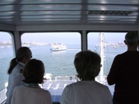 Coming into Portsmouth Harbour on Wightlink Ferry