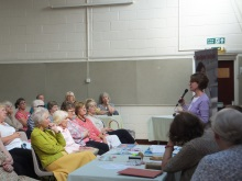 Pauline Rowson talking to Emsworth WI about her marine mystery crime novels
