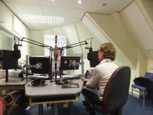 Pauline Rowson talking to Chris Pearce, Express FM