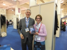 Pauline Rowson with Edwin Buckhalter Chairman of Severn House Publishers