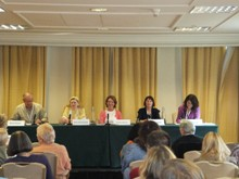 Pauline Rowson on a panel at Crimefest 2012