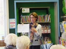 Pauline Rowson at Seaton Carew Library, Hartlepool 2012