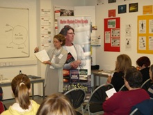 Pauline Rowson conducting a writing workshop at CSI Portsmouth 2011o
