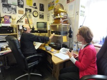 Pauline Rowson on air with David Nove