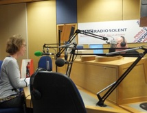 Pauline Rowson on air with Julian Clegg