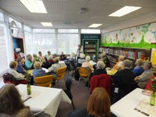 Pauline Rowson at Seaton Carew Library, Hartlepool