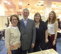 Pauline Rowson with her Publisher Severn House at the London Book Fair 2013