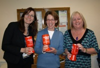 Pauline Rowson with Mary Waldron and Dawn McGee