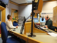 Pauline Rowson talking to Julian Clegg, BBC Radio Solent April 2013