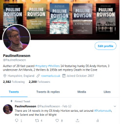 Follow Pauline Rowson on Twitter