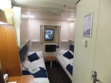 Superior ensuite cabin Commodore Clipper ferry to Channel Islands from Portsmouth