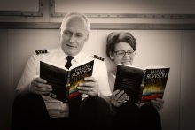 Captain Leake and Pauline Rowson reading Lethal Waves