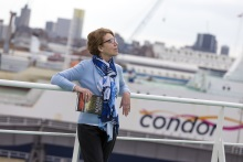 Pauline Rowson on board Condor Ferry for Lethal Waves, DI Andy Horton novel