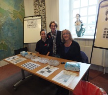 Lisa Ford and Jane Aston, Hampshire Police Fingerprint Bureau with crime author Pauline Rowson, centre