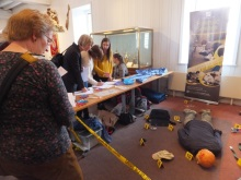 The crime scene at CSI Portsmouth provided by Forensic Science Students South Downs College