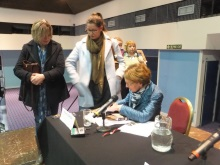 Book signing Pauline Rowson at CSI Portsmouth 2016