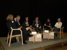 CSI Portsmouth 2010 crime authors and experts morning panel, having a laugh.