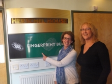 Pauline Rowson and Jane Aston, Hampshire Fingerprint Bureau