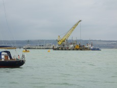 Crane Portsmouth Harbour in DI Andy Horton Death Lies Beneath
