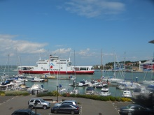 Red Funnel Ferry sailing into Cowes Isle of Wight