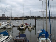 Fareham Quay where Clive Westerbrook's boat in DI Andy Horton crime novel is moored