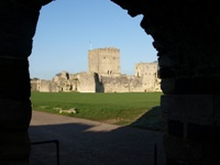 Looking into Portchester Castle in DI Andy Horton Footsteps on the Shore