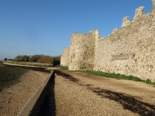 Portchester Castle shore, featured in Footsteps on the Shore