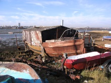 Wrecked Houseboat, Portsmouth