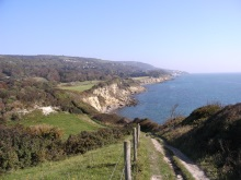 Isle of Wight Coastline featured in the DI Andy Horton crime novels by Pauline Rowson
