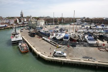 Portsmouth Camber featured in the DI Andy Horton crime novels