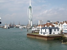 Old Portsmouth towards Gunwharf Quays renamed Oyster Quays in DI Andy Horton crime novels