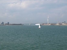 Sailing out of Portsmouth Harbour