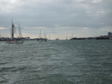 Heading up into Portsmouth Harbour