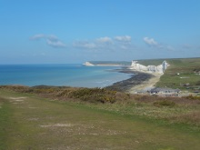 Looking down into Birling Gap and Seven Sisters