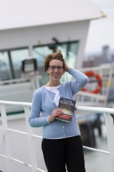 Pauline Rowson on Condor Ferry with Lethal Waves mystery