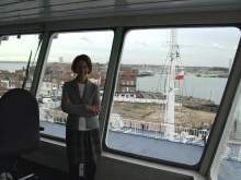 Travelling on the Bridge of the Wightlink Ferry