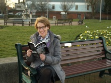 Pauline Rowson with DI Andy Horton crime novel, Death Surge
