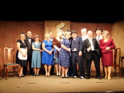 Cast and crew of MURDER AT THE PELICAN CLUB Winterbourne Players
